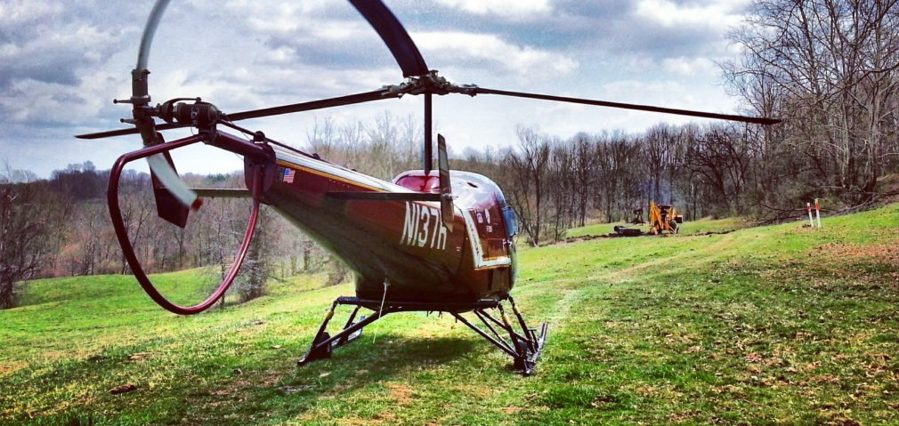Helicopter discovers Backhoe on Pipeline Patrol